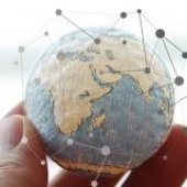Globe with pins Photo